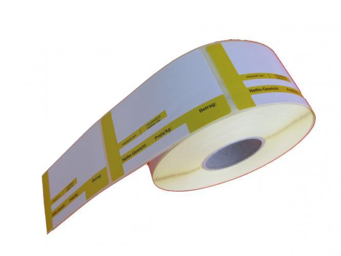 Thermoetiketten mit Preisschuh und Gewicht 46,8x102x40, 24 Rollen