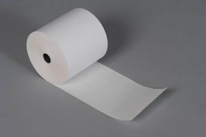 50 St/ück 80m lang /Ø 80mm - Thermopapier Bonrolle 50 Thermorollen 80mm x 80m x 12mm